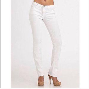 J Brand White Cigarette Leg Skinny Low Rise Jeans